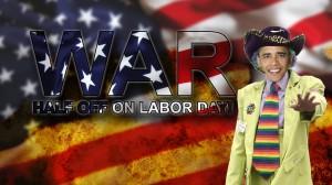 WAR labor day sale obama