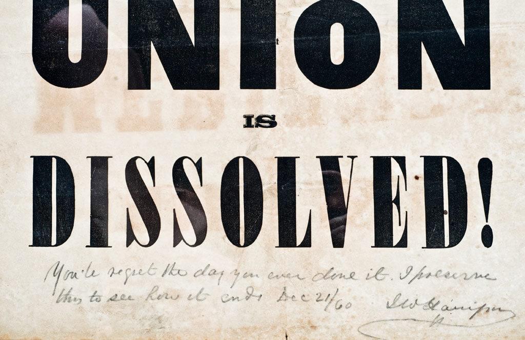 American Union is dissolved-nespaper headline